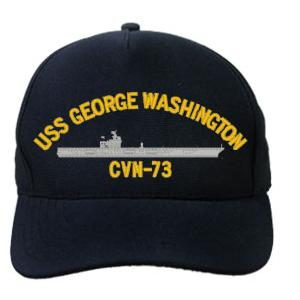 USS George Washington CVN-73 Cap (Dark Navy) (Direct Embroidered)