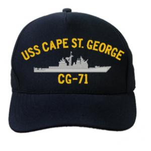 USS Cape St. George CG-71 Cap (Dark Navy) (Direct Embroidered)
