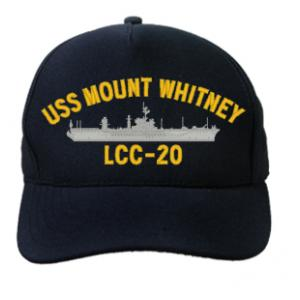 USS Mount Whitney LCC-20 Cap (Dark Navy) (Direct Embroidered)