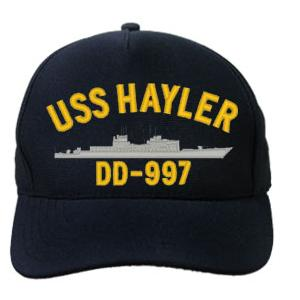 USS Hayler DD-997 Cap (Dark Navy) (Direct Embroidered)