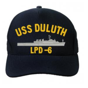 USS Duluth LPD-6 Cap (Dark Navy) (Direct Embroidered)