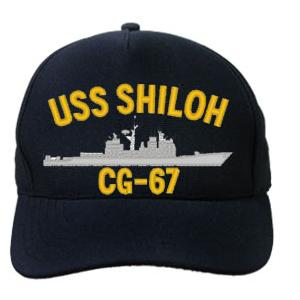 USS Shiloh CG-67 Cap (Dark Navy) (Direct Embroidered)