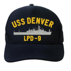 USS Denver LPD-9 Cap (Dark Navy) (Direct Embroidered)