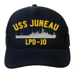 USS Juneau LPD-10 Cap (Dark Navy) (Direct Embroidered)