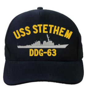 USS Stethem DDG-63 Cap (Dark Navy) (Direct Embroidered)
