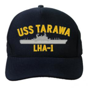 USS Tarawa LHA-1 Cap (Dark Navy) (Direct Embroidered)