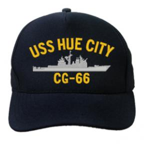 USS Hue City CG-66 Cap (Dark Navy) (Direct Embroidered)
