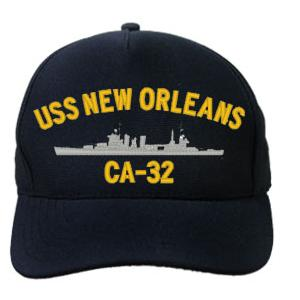 USS New Orleans CA-32 Cap (Dark Navy) (Direct Embroidered)