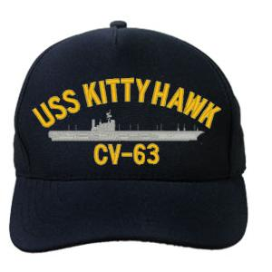 USS Kitty Hawk CV-63 Cap (Dark Navy) (Direct Embroidered)