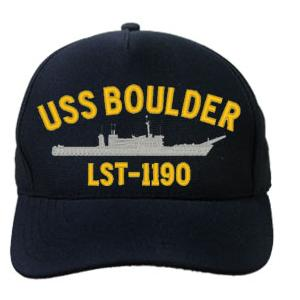 USS Boulder LST-1190 Cap (Dark Navy) (Direct Embroidered)