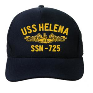 USS Helena SSN-725 Cap with Gold Emblem (Dark Navy) (Direct Embroidered)