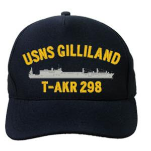 USNS Gilliland T-AKR 298 Cap (Dark Navy) (Direct Embroidered)