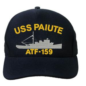 USS Paiute ATF-159 Cap with Boat (Dark Navy) (Direct Embroidered)