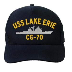 USS Lake Erie CG-70 Cap (Dark Navy) (Direct Embroidered)