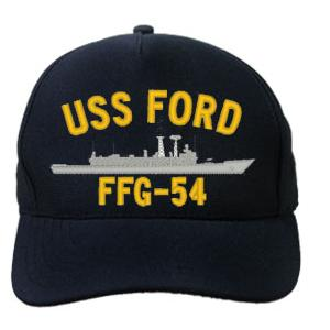 USS Ford FFG-54 Cap (Dark Navy) (Direct Embroidered)