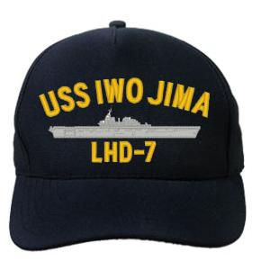 USS Iwo Jima LHD-7 Cap (Dark Navy) (Direct Embroidered)