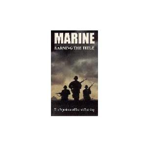 Marine Earning The Title DVD/VHS