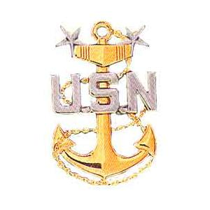 Navy Master Chief Petty Officer Cap Badge Flying Tigers