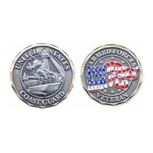 Proudly Served Coast Guard Vet Challenge Coin