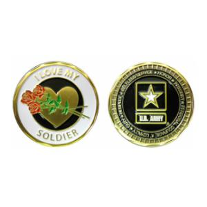 U.S. Army I Love My Soldier Challenge Coin