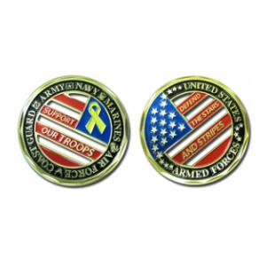 Support Our Troops Stars & Stripes Challenge Coin