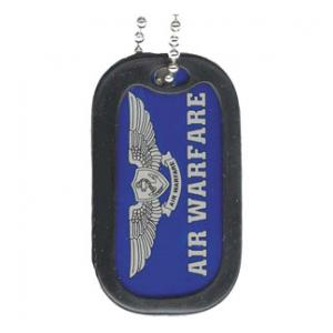 US Navy Air Warfare Dog Tag with Wing