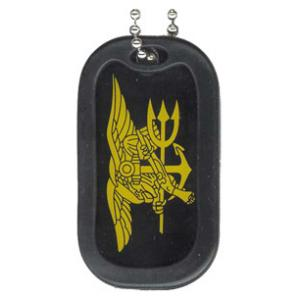 US Navy Seal Dog Tag with Trident