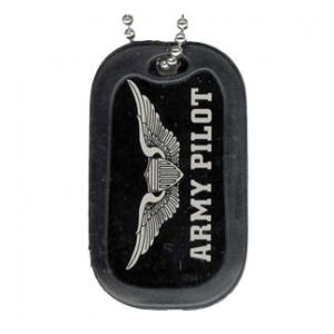 US Army Pilot Dog Tag with Wing