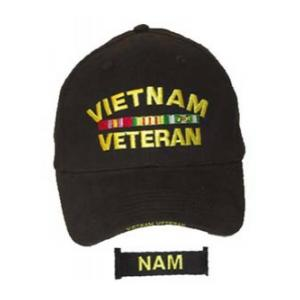 Vietnam Veteran Extreme Embroidery Cap with Ribbons