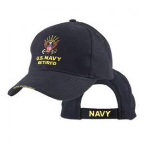 Navy Retired Extreme Embroidery Cap with Anchor Logo