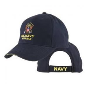 Navy Veteran Extreme Embroidery Cap with Anchor Logo