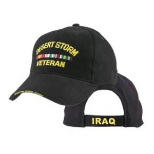Operation Desert Storm  Veteran Extreme Embroidery Cap with 3 Ribbons
