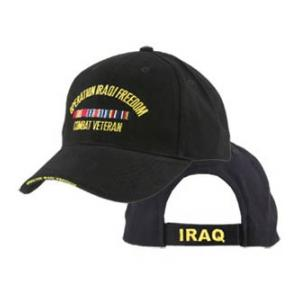 Operation Iraqi Freedom Veteran Extreme Embroidery Cap with 3 Ribbons