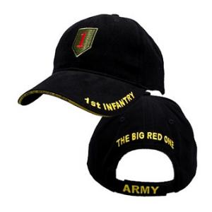 1st Infantry Division Cap with The Big Red One (Black)