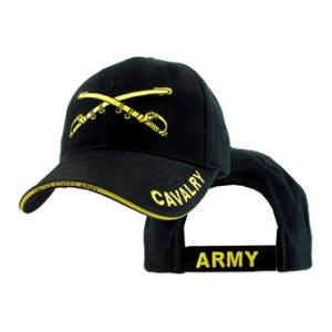 U.S. Army Cavalry Extreme Embroidery Logo Cap (Black)