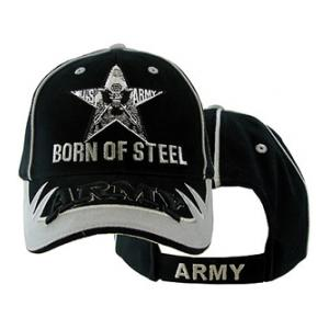 U.S. Army Born of Steel Cap (Black / Silver)