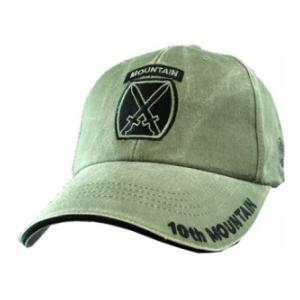10th Mountain Division Extreme Embroidery Cap (Olive Drab)
