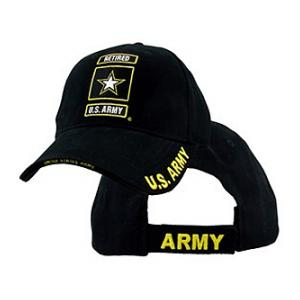 U.S. Army Retired Cap with Star (Black)