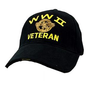 World War II Veteran Extreme Embroidery Cap w/ Ruptured Duck