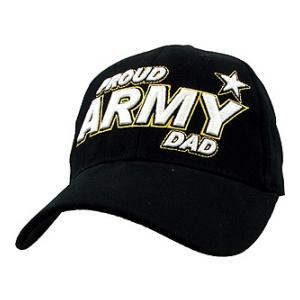 U.S. Army Proud Dad Cap with Raised Lettering (Black)
