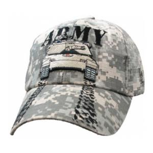 Army w/Tank Extreme Embroidery Cap (ACU)