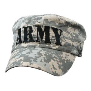 U.S. Army Text Flat-Top Cap (Pre-Washed ACU)