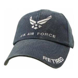 Air Force Retired Wing Logo Cap (Pre-Washed Dark Navy)