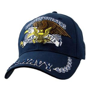 US Navy We Own The Seas Cap with Eagle (Dark Navy)
