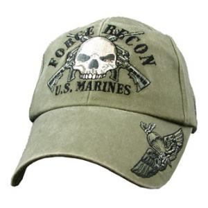 Usmc Force Recon Cap Pre Washed Od Flying Tigers Surplus