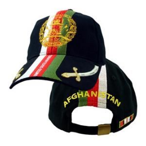 OEF Marines Cap w/ Ribbon & Swords (Black)