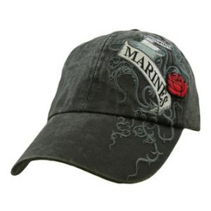 Ladies Marines Cap w/Rose