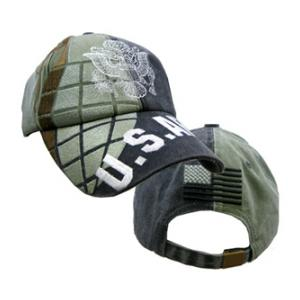 U.S. Army Cap with Grenade (Pre-washed Grey/Green)