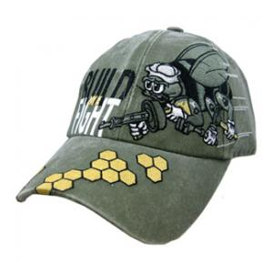 Navy Seabees We Build We Fight Cap (OD Green)