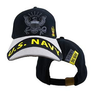 US Navy Gray Logo Cap (Black & Gray)